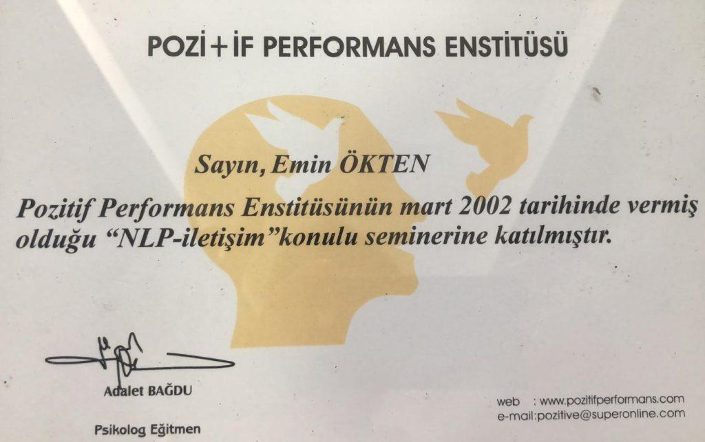 Emin Ökten - Pozitif performans enstitüsü